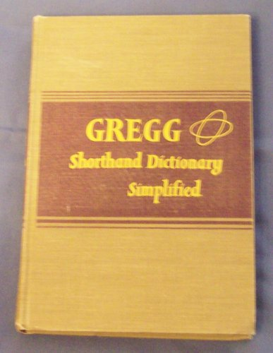 9780070944121: Gregg Shorthand Dictionary Simplified