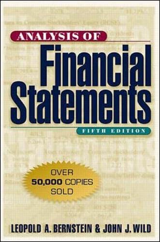 9780070945043: Analysis of Financial Statements