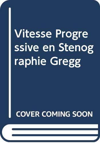 9780070949508: Vitesse Progressive En Stenographie Gregg