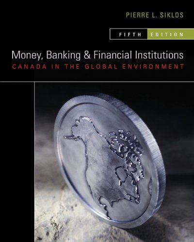 9780070951594: Money, Banking and Financial Institutions: Canada in the Global Environment