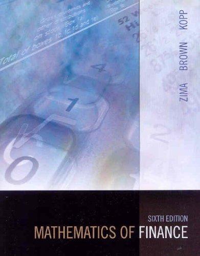 9780070951617: Mathematics of Finance
