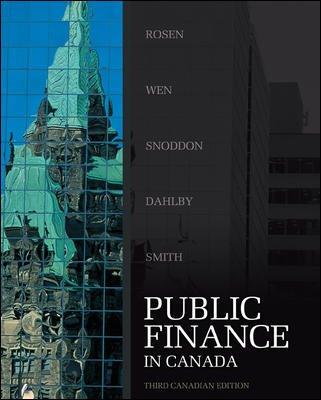 PUBLIC FINANCE IN CANADA >CANADIAN ED.<