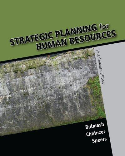Strategic Planning for Human Resources, First Edition: Bulmash, Julie; Chhinzer,