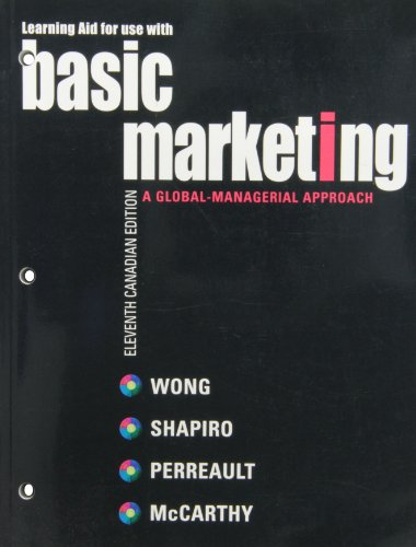 Learning Aid for use with Basic Marketing: Kenneth Wong, Stanley