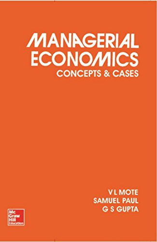 9780070965188: Managerial Economics: Concepts and Cases