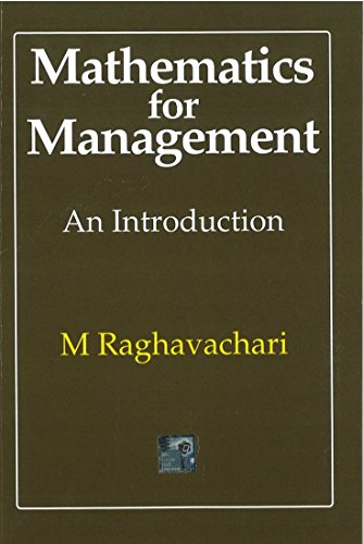 9780070965706: A FIRST COURSE IN MATHEMATICS FOR MANAGEMENT