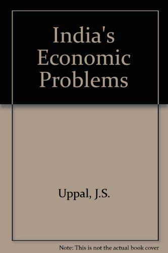 9780070966246: India's Economic Problems: An Analytical Approach
