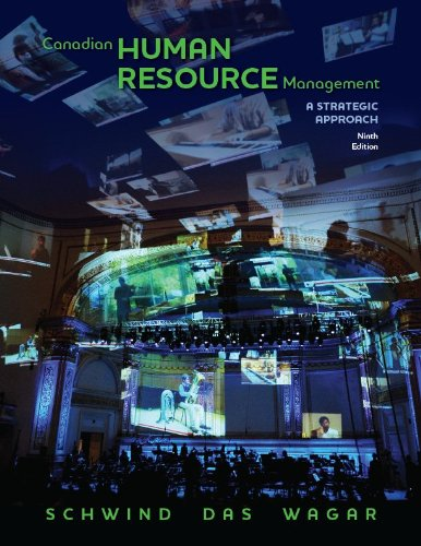9780070967380: Canadian Human Resource Management, Ninth Edition
