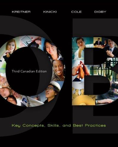 Organizational Behaviour, Third CDN Edition: Robert Kreitner, Angelo