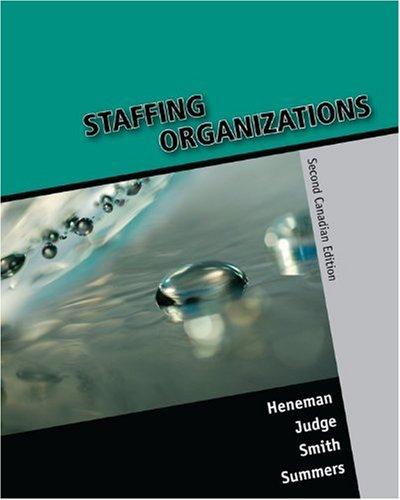 9780070967403: Staffing Organizations, Second CDN Edition