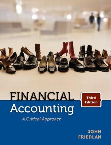 9780070967601: Financial Accounting: A Critical Approach, Third CDN Edition