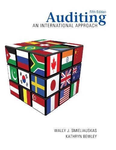 9780070968295: Auditing: An International Approach