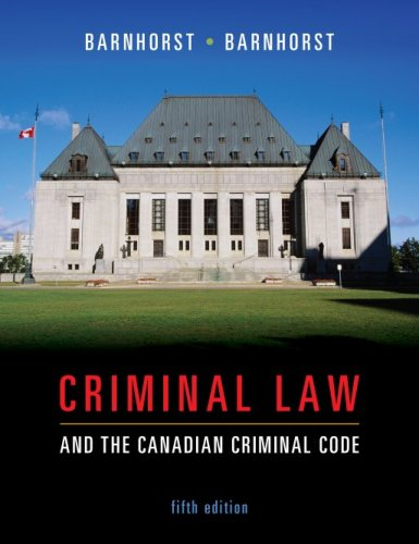 9780070969353: Criminal Law and the Canadian Criminal Code