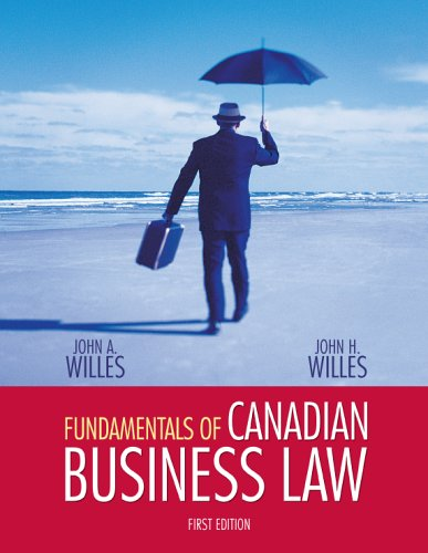 9780070971783: Fundamentals of Canadian Business Law, First Edition