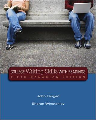 College Writing Skills with Readings, Fifth CDN: John Langan, Sharon