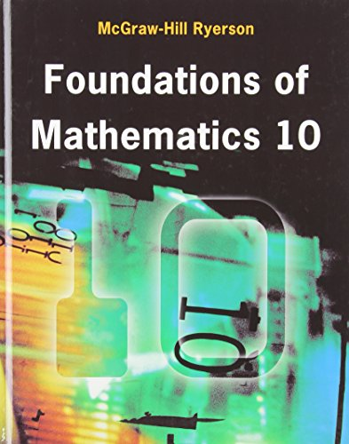 9780070977686: Foundations of Mathematics 10 Student Edition