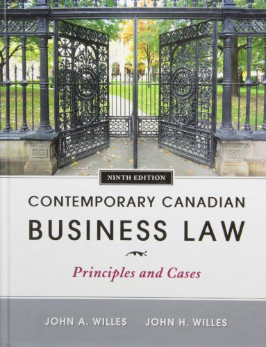 9780070979857: Contemporary Canadian Business Law