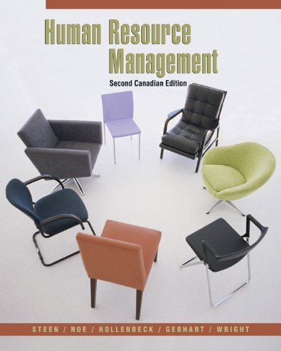 Human Resource Management, Second CDN Edition: Sandra; Noe Steen