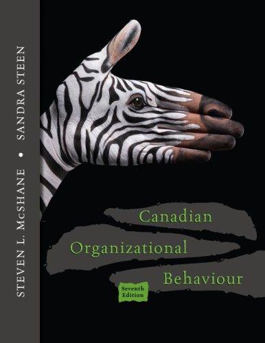 9780070979895: Canadian Organizational Behaviour