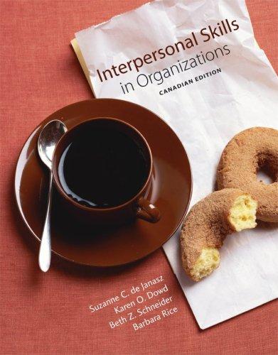 9780070979901: Interpersonal Skills in Organizations, CDN Edition