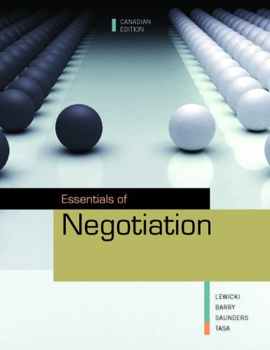 Essentials of Negotiation [Paperback]: Roy Lewicki