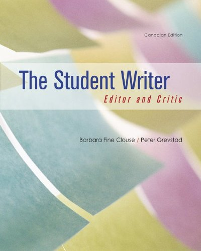 9780070980419: The Student Writer: Editor and Critic