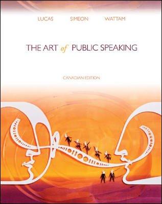 9780070980440: Art of Public Speaking (Canadian)