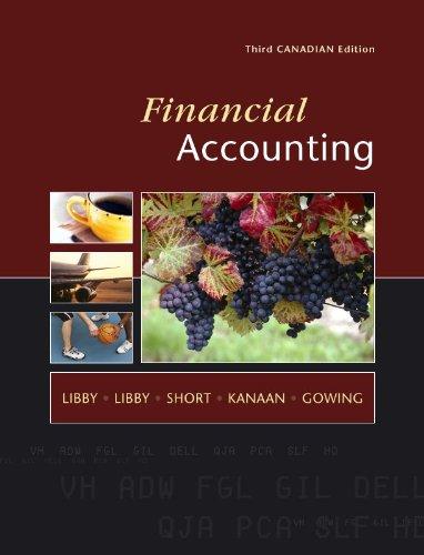 Financial Accounting, Third CDN Edition: Robert Libby