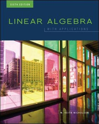 9780070985100: Linear Algebra with Applications