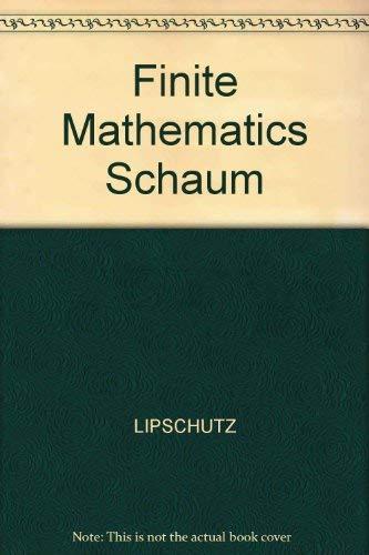 9780070990265: Finite Mathematics Schaum