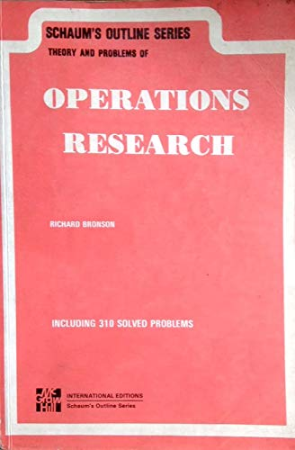 9780070990753: Operations Research Schaum