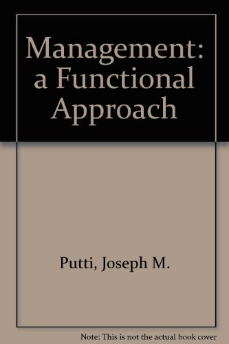 9780070991545: Management: a Functional Approach
