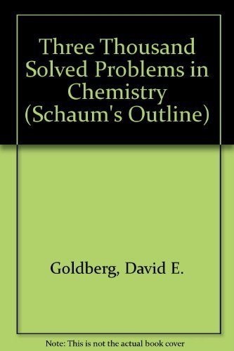 9780070991880: Three Thousand Solved Problems in Chemistry (Schaum's Outline)