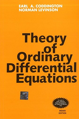 9780070992566: Theory of Ordinary Differential Equations
