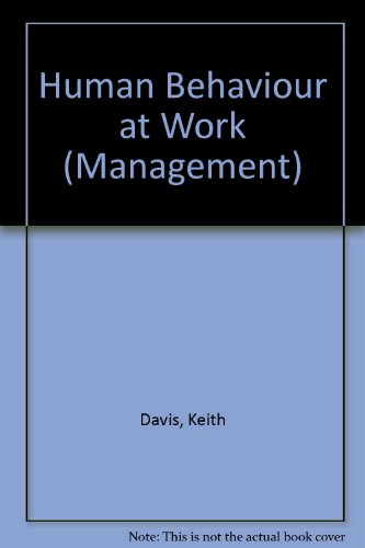 9780070992627: Human Behaviour at Work (Management)