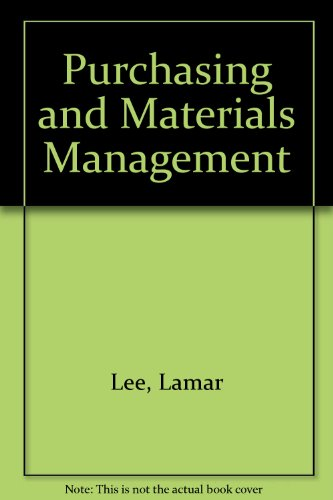 9780070993020: Purchasing and Materials Management