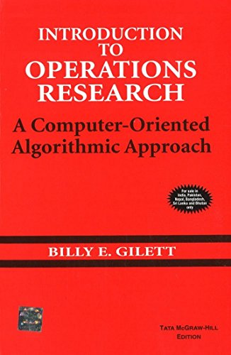 9780070993198: Introduction to Operations Research: A Computer-oriented Algorithmic Approach