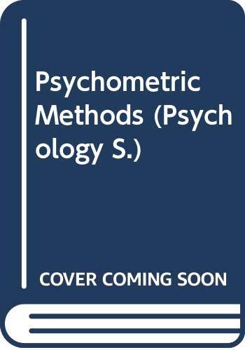 9780070993396: Psychometric Methods