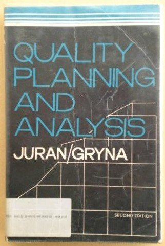 9780070993853: Quality Planning and Analysis: From Product Development Through Usage