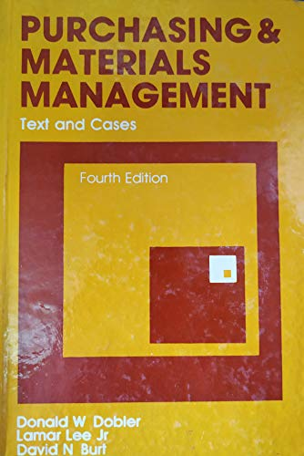 9780070994270: Purchasing and Materials Management