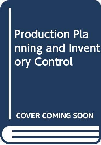 Production Planning and Inventory Control: Magee, John Francis,