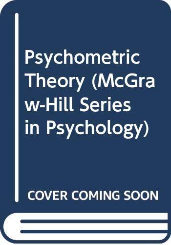9780070994843: Psychometric Theory