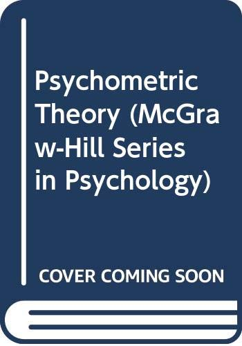9780070994843: Psychometric Theory