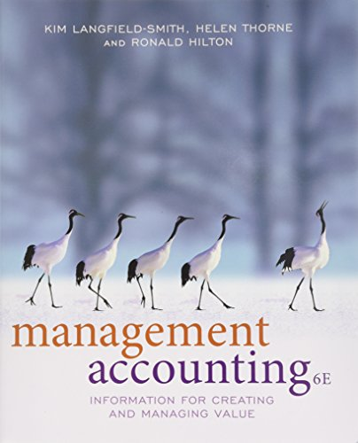 Management Accounting Information For Ma: Langfield-Smith