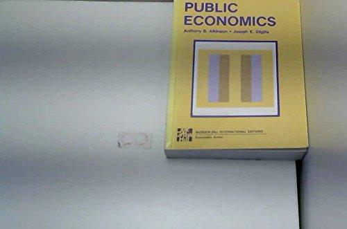 9780071001182: Lectures in Public Economics