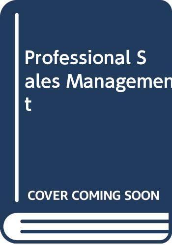 9780071001199: Professional Sales Management