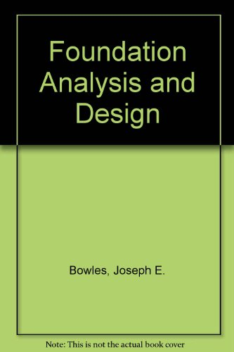 9780071001298: Foundation Analysis and Design
