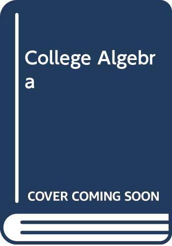 9780071001380: College Algebra