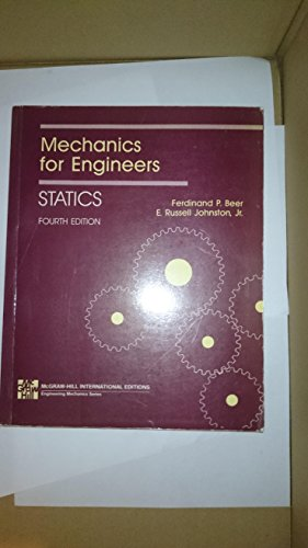 9780071001410: Mechanics for Engineers: Statics