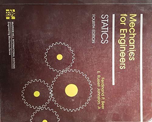 9780071001410: Mechanics for Engineers: Statics